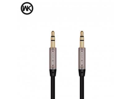 WK-Design kabel Meledy jack 3,5 mm - jack 3,5 mm - černý