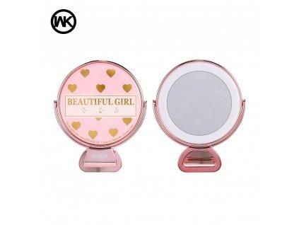 Selfie lampa WK-Design se zrcadlem - růžová