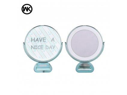 Selfie lampa WK-Design se zrcadlem - modrá