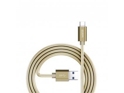 ESR dvojitě pletený kabel USB/ typ C - zlatý
