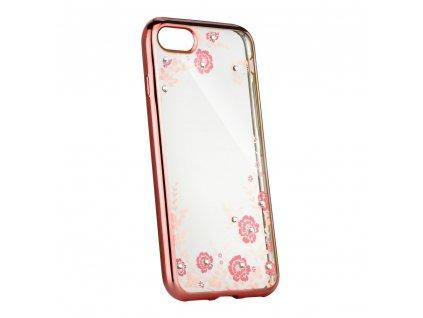 """Pouzdro Forcell DIAMOND Apple Iphone XS ( 5,8"""" ) zlato/růžové"""