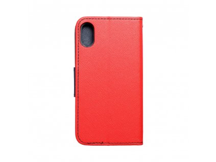 "Pouzdro typu kniha Fancy Apple Iphone XS (5,8"") červené - navy blue"
