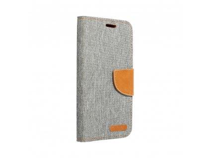 """Pouzdro Canvas Book Apple Iphone XS Plus (6,5"""") šedé"""