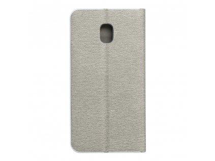 Pouzdro Forcell Luna Silver Samsung Galaxy J3 2017 stříbrné