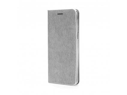Pouzdro Forcell Luna Silver Samsung Galaxy J7 2017 stříbrné