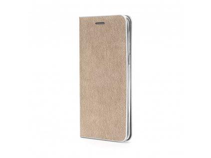 Pouzdro Forcell Luna Silver Samsung Galaxy J7 2017 zlaté