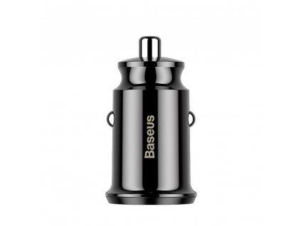 Nabíječka do auta BASEUS Grain  Dual-USB 3.1 A černá