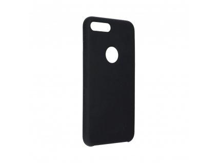 Pouzdro Forcell Soft-Touch SILICONE Apple Iphone 8 PLUS černé (výřez na logo)