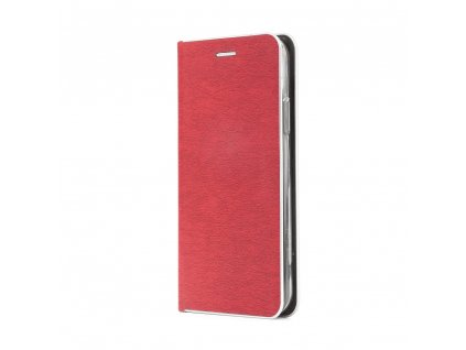 Pouzdro Forcell Luna Silver Samsung Galaxy J6+ (J6 Plus) červené