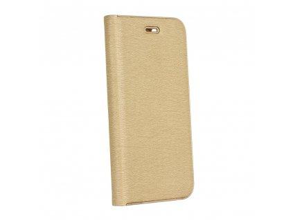 Pouzdro Forcell Luna Book Samsung A7 2018 zlaté