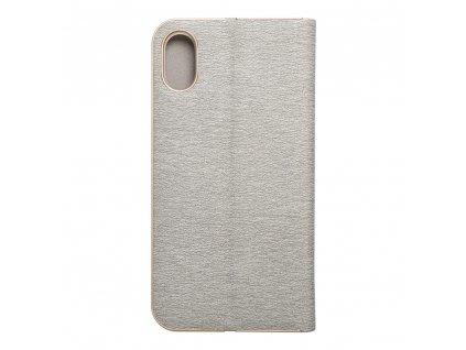Pouzdro Forcell Luna Book Apple Iphone Xs stříbrné