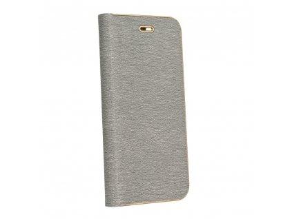 Pouzdro Forcell Luna Book Samsung A7 2018 stříbrné