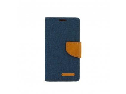 Pouzdro Canvas Mercury Book Samsung J6+ (J6 Plus) Navy blue