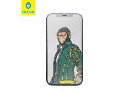 Tvrzené sklo 5D Mr. Monkey Glass Apple Iphone 7/8  PLUS bílé (Strong Matte)