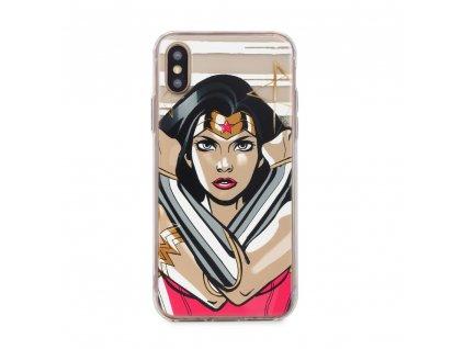 Licencované pouzdro Samsung Galaxy A6 Plus 2018 Wonder Woman Multicolor vzor 003