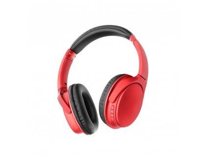 Stereo Bluetooth sluchátka s mikrofonem MS-K10 červené