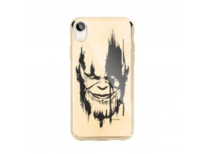 Licencované pouzdro Apple Iphone 5 / 5S / SE Thanos zlaté vzor 004