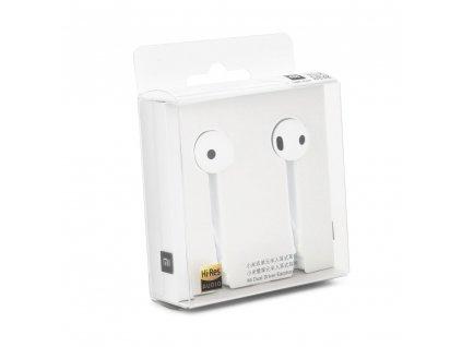 Handsfree sluchátka  XIAOMI Stereo Mi Dual Driver bílé (Jack 3,5mm)