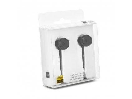 Handsfree sluchátka  XIAOMI Stereo Mi Dual Driver černé (Jack 3,5mm)