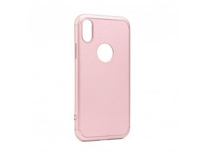 Originální obal GKK 360 Full Protection Apple Iphone X růžovo zlatý