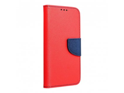 Pouzdro Fancy Book Samsung A30 red / navy