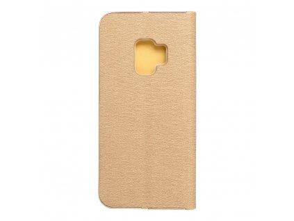 Pouzdro Forcell Luna Book Samsung Galaxy S9 zlaté