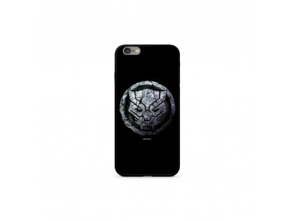 Licencované pouzdro Apple Iphone 6 Plus / 6S Plus Black Panther Premium GLASS černé vzor 015