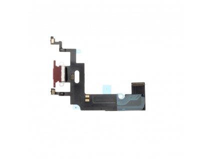 Flex kabel s konektorem pro nabíjení EQ Apple Iphone XR červená