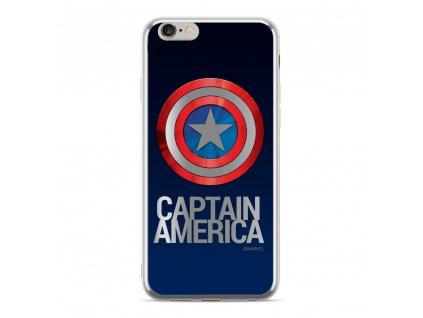 """Licencované pouzdro Apple Iphone XS Max ( 6,5"""" ) Kapitan America Luxury Chrome stříbrné vzor 001"""
