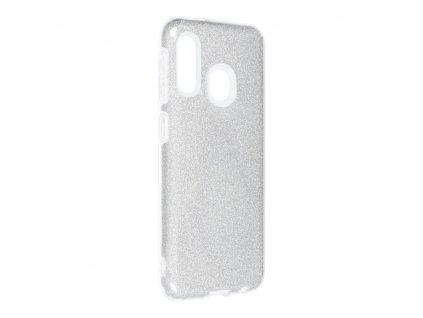 Pouzdro Forcell SHINING Samsung Galaxy A20E stříbrné