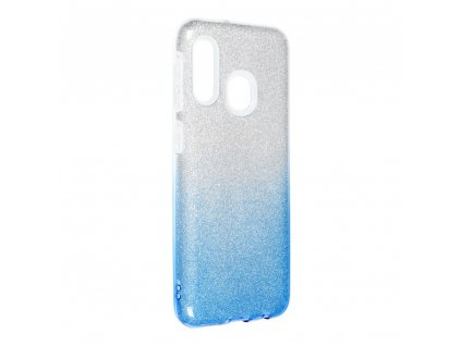 Pouzdro Forcell SHINING Samsung Galaxy A20E transparent/modré