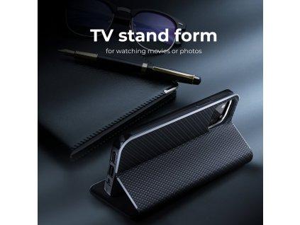 Pouzdro Luna Carbon Samsung J4+ (J4 Plus) černé