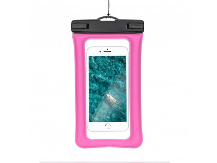Vodotěsné pouzdro AIRBAG s plastovým uzávěrem - tmavě růžové