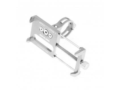 Držák na kolo Metal pro mobilní telefon - stříbrný