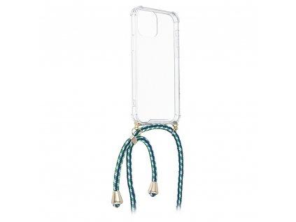 Pouzdro Forcell Cord Samsung S10 PLUS transparentní + zelená šňůrka