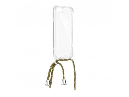 Pouzdro Forcell Cord Samsung M20 transparentní + zelená šňůrka