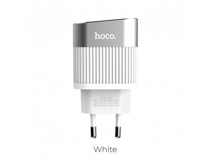 HOCO Síťová nabíječka 2x USB Speedmaster 2,4A LED C40A bílá