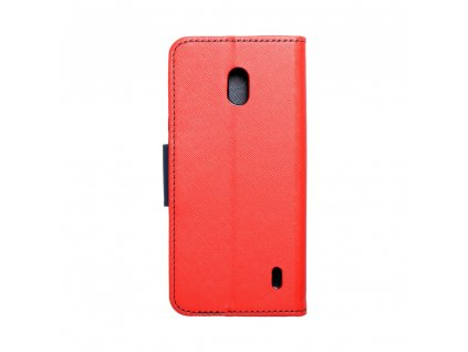 Pouzdro Fancy Book Nokia 2.2 červené / navy blue