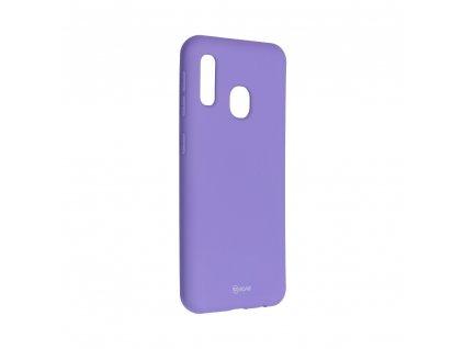 Pouzdro Roar Colorful Jelly Case Samsung Galaxy A20e fialové