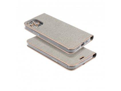 Pouzdro Forcell Luna Book Samsung Galaxy A10 stříbrné