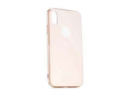 Pouzdro Forcell GLASS Premium Samsung Galaxy A70 zlaté růžové
