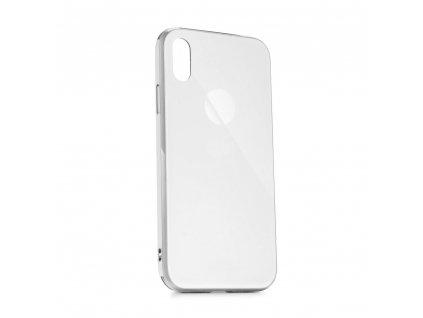 Pouzdro Forcell GLASS Premium Apple Iphone XS Bílé