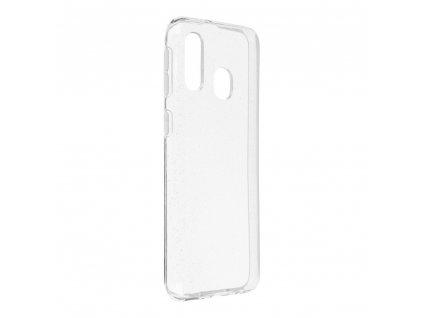 Pouzdro Back Case Ultra Slim 0,5 mm GLITTER Samsung Galaxy A40 transparentní