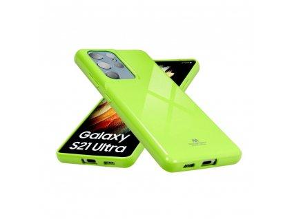 Pouzdro Goospery Mercury Jelly Samsung Galaxy A80 limonka