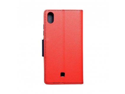 Pouzdro Fancy Book LG K20 červené/navy blue