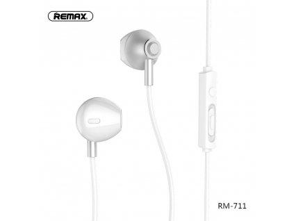 REMAX Sluchátka RM-711 stříbrné