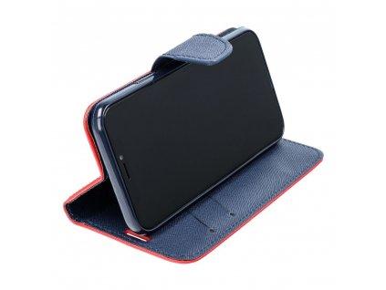 Pouzdro Fancy Book Xiaomi Redmi 8A červené/navy blue