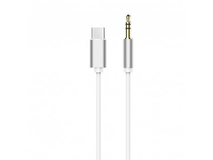 Adapter kabel HF/audio Type C - Jack 3,5mm bílý