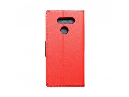 Pouzdro Fancy Book LG K50s červené/navy blue