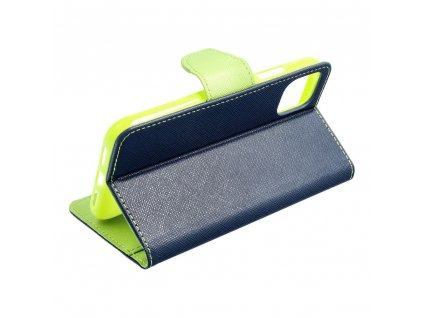Pouzdro Fancy Book SAMSUNG Galaxy A51 navy blue/limonka